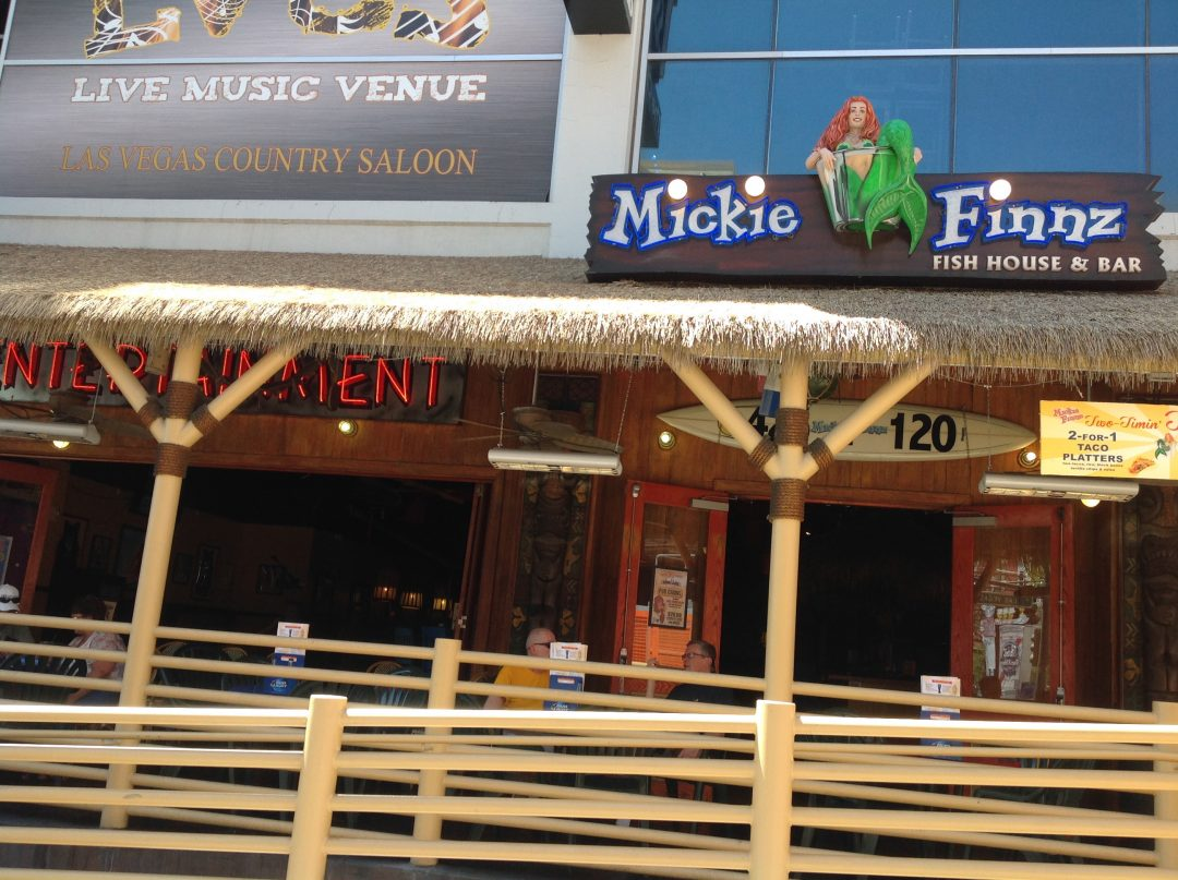 Mickie Finnz Is One Of Those Great Outdoor Afternoon Patio Restaurants At The Fremont Street Experience Turning Into A Nightclub Night With Live
