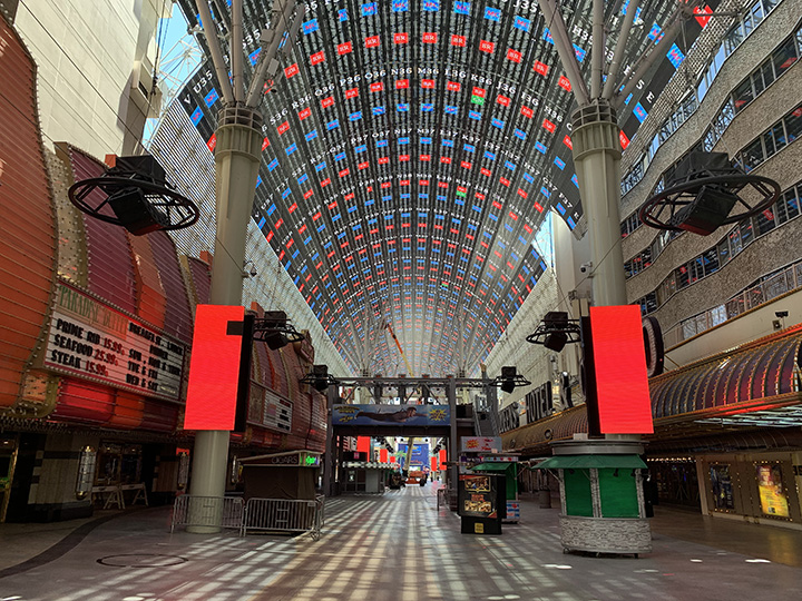 The Light Show on Fremont St, Las Vegs